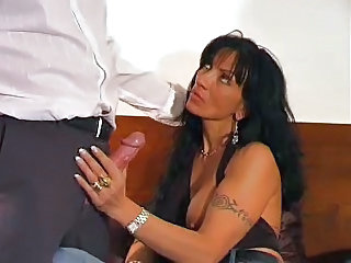 Blowjob Brunette European Italian Mature Tattoo