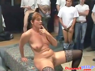 Bukkake Gangbang Mature  Stockings