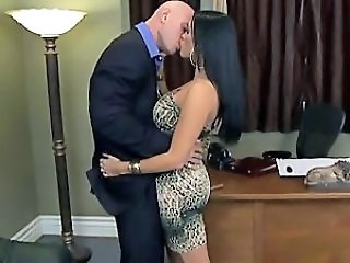 Big Tits Kissing  Office Secretary