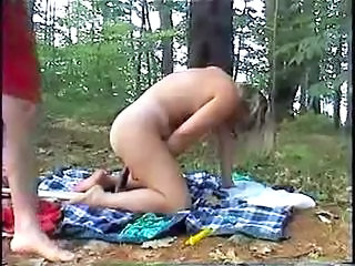 Amateur Outdoor Toy Wife