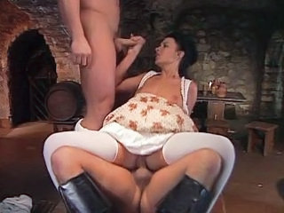 Double Penetration  Riding Stockings Threesome Vintage