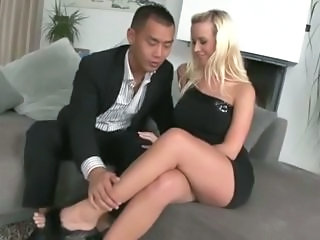 Amazing Blonde Interracial  Pornstar