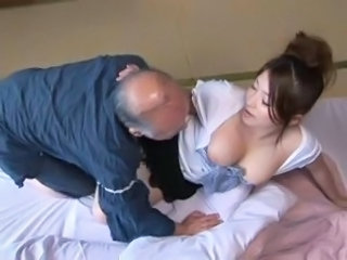 Asian Daddy Japanese  Old and Young Wife