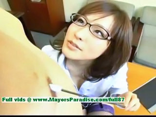 Asian Chinese Glasses  Stockings Teacher