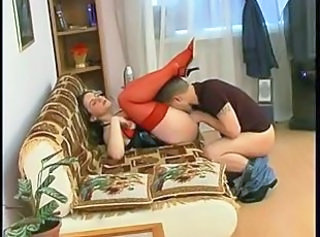 Licking  Mom Old and Young Russian Stockings