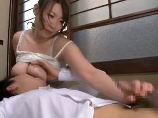 Asian Big Tits Handjob Japanese  Natural Wife