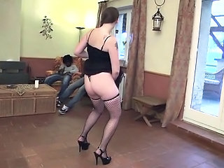 Dancing European French Lingerie Mature Stockings