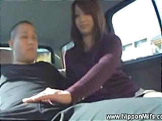 Asian Car Handjob Japanese