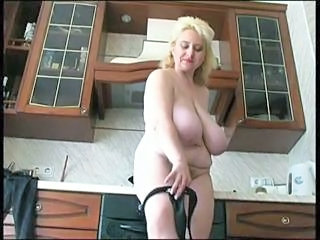 Big Tits Kitchen Mature Natural Russian  Stripper