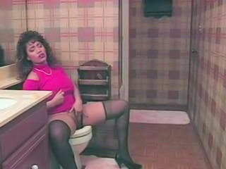 Masturbating  Stockings Toilet Vintage