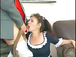Blowjob Clothed Maid Mature