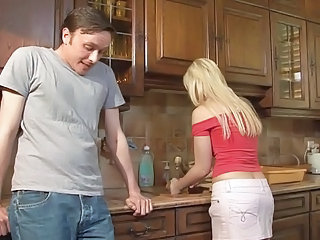 Blonde Kitchen Wife