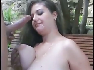 Big Tits Cumshot Natural Outdoor Pornstar Swallow