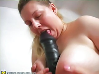 Big Tits Dildo Mature Natural Toy