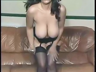 Big Tits  Natural Solo Stockings