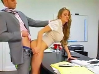 Amazing Clothed Doggystyle Hardcore   Office Secretary