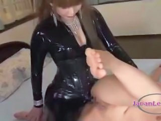 Asian Latex Lesbian  Strapon