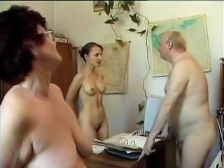 Mature Office Russian Threesome