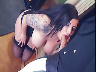 Big Tits Blowjob  Natural Stockings Tattoo