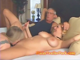Amateur Big Tits Handjob Licking  Natural Threesome