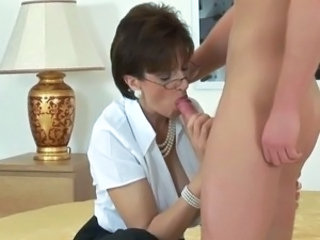 Blowjob British Clothed European Glasses
