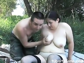 Amateur Chubby  Outdoor