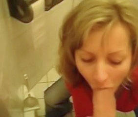 Bathroom Blowjob