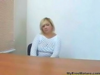 Amateur Casting Mature Office