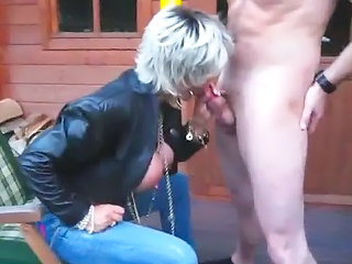 Amateur Blowjob Clothed Mature Outdoor