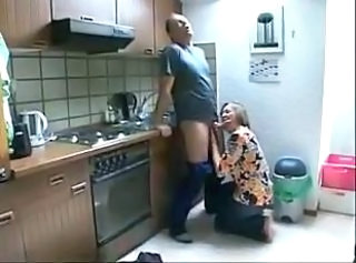 Amateur Blowjob Kitchen Mature Mom Older