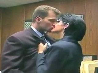 Glasses Kissing  Office Old and Young Secretary
