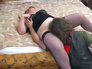 Licking Mature Mom Old and Young Stockings