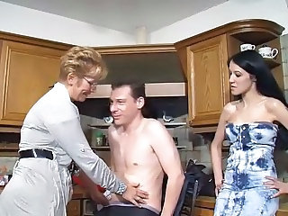 Daughter European German Kitchen Mom Threesome