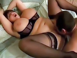 Big Tits Chubby Lingerie Licking  Orgasm Stockings Wife