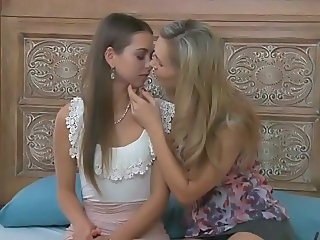 Daughter Kissing Lesbian Mom