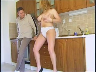 Big Tits Kitchen  Natural Panty