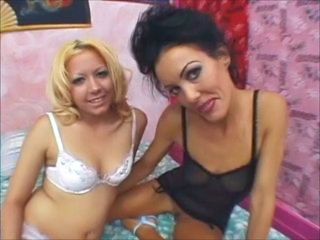 Lesbian Lingerie  Old and Young Teen