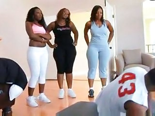Chubby Ebony Groupsex
