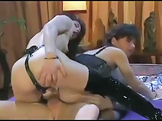 Double Penetration European French Hardcore  Strapon Threesome Vintage