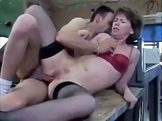 European French Hardcore Mature Mom Stockings