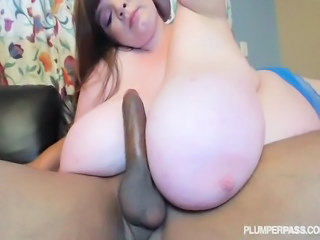Big Tits Interracial Pornstar  Tits job