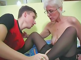 Glasses Mom Old and Young  Stockings