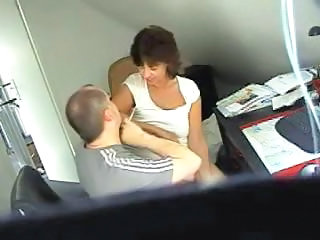 HiddenCam Mature Office Secretary