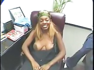 Ebony Mature Office  Secretary