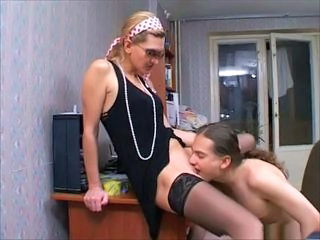 Amateur Licking  Russian Stockings