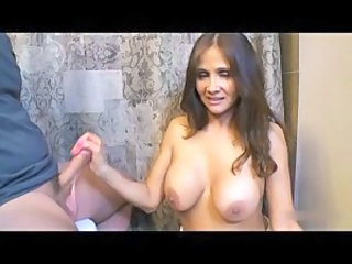 Big Tits Handjob  Natural Toilet