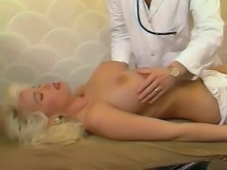 Amazing Big Tits Blonde Doctor European French  Pornstar Vintage