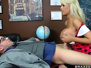 Big Tits  Pornstar School Silicone Tits Teacher Tits job