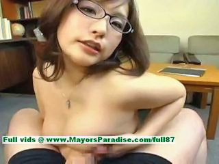 Asian Chinese Glasses  Pov Tits job