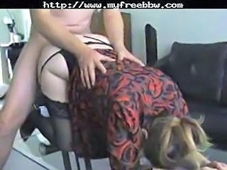 Amateur Clothed Doggystyle  Stockings